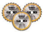 DT1964 Construction Circular Saw Blade 3 Pack 305 x 30mm x 24T/48T/60T